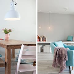 Een romantische woonkamer: landelijke Woonkamer door Interieur Design by Nicole & Fleur