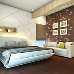 Bed Designed with some unique style.:  Bedroom by Ellipse design studio