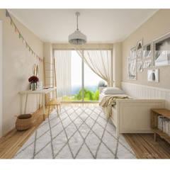 Habitacion en 3D: Recámaras de estilo escandinavo por 3Deko