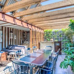 ZOTEHUELA: Jardines de estilo  por HDA: ARQUITECTURA BIOCLIMATICA