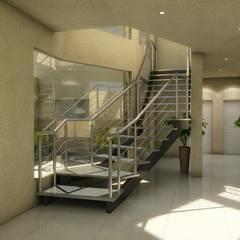 EDIFICO EN ALTURA LA RIOJA: Pasillos y recibidores de estilo  por b&b marketing y arquitectura