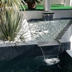 Bassins et fontaines: Jardin de style  par Vert-parc, Moderne