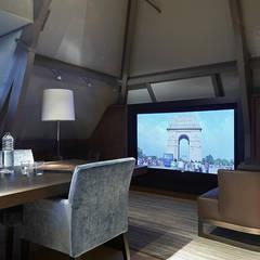 Villa Hilversum:  Studeerkamer/kantoor door Designa Interieur & Architectuur BNA