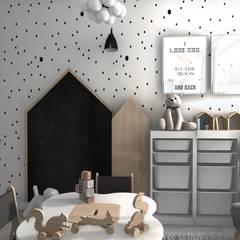 Pokoik trzyletniej Liwii: styl , w kategorii Pokój dziecięcy zaprojektowany przez Designbox Marta Bednarska-Małek