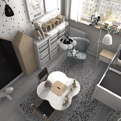 Nursery/kid's room by Designbox Marta Bednarska-Małek