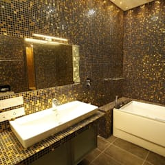 Residential interiors for Mr.Siraj at Chennai:  Bathroom by Offcentered Architects,Minimalist