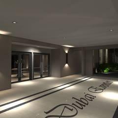 Fachada Salão: Locais de eventos  por AFG Arquitetura e Interiores