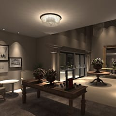 Interior Salão: Locais de eventos  por AFG Arquitetura e Interiores
