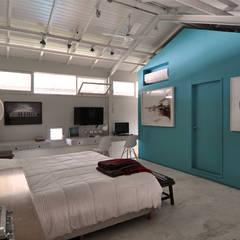 Dorrego: Dormitorios de estilo  por Matealbino arquitectura,Moderno