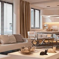 MINIMALISTYCZNIE: styl , w kategorii Pokój multimedialny zaprojektowany przez Ludwinowska Studio Architektury