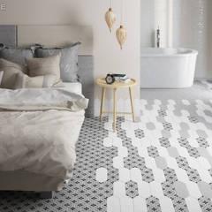 Kite White / deco Century Grey: Dormitorios de estilo  de Equipe Ceramicas