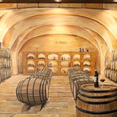 Prozess Wandmalerei - Illusionsmalerei Weinkeller im Divino in Celle:  Weinkeller von fialkowske design