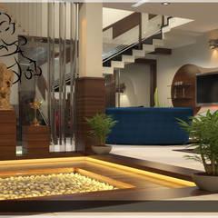 Contemporary Interior Design:  Corridor & hallway by Premdas Krishna