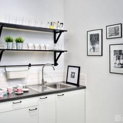 kuchnia socjalna: styl , w kategorii Gastronomia zaprojektowany przez ALEKSANDRA interior design studio
