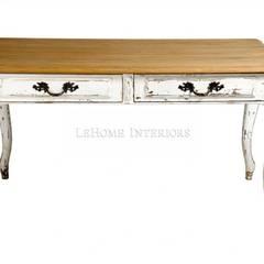 Обед Louise Dining Table T002:  в . Автор – LeHome Interiors, Кантри Дерево Эффект древесины