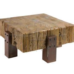 Кофейный столик T106:  в . Автор – LeHome Interiors, Лофт Дерево Эффект древесины