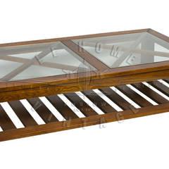 Wisconsin Low Coffee Table T112:  в . Автор – LeHome Interiors, Лофт Дерево Эффект древесины