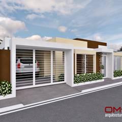 Diseño de vivienda unifamiliar: Casas de estilo  por om-a arquitectura y diseño