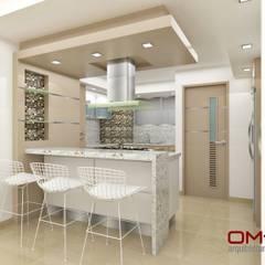 minimalistic Kitchen by om-a arquitectura y diseño