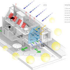 3D eco diagram:  Houses by Artform Architects