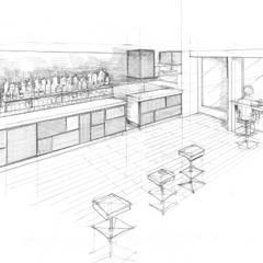 QB bar&more: Cantina in stile  di Studio di architettura Alberto Antoni