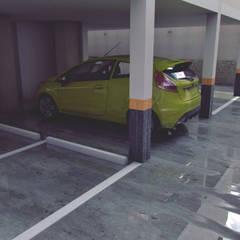 Apartamento residencial camuri: Garajes y galpones de estilo  por JM Diseños,