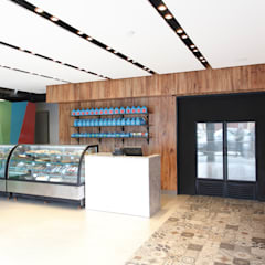 Pasteleria Tortatti: Restaurantes de estilo  por Oneto/Sousa Arquitectura Interior