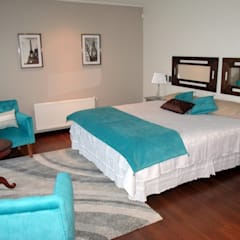 Dormitório Turquesa: Dormitorios de estilo mediterraneo por AnnitaBunita.com