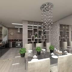 Sala de Jantar AL: Salas de jantar ecléticas por Plano A Studio