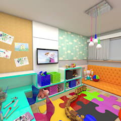 Nursery/kid's room by Plano A Studio,