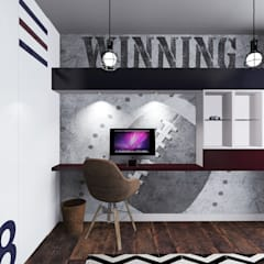 Apartament na Ochocie | Warszawa | Pokój dla chłopca: styl , w kategorii Pokój dziecięcy zaprojektowany przez Comfytura Studio