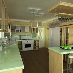 Cocina, vivienda unifamiliar: Cocinas de estilo  por Rbritointeriorismo
