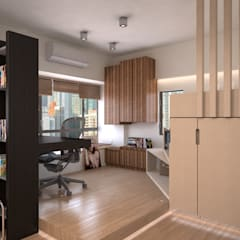 Vantage Park | mid-level | Hong Kong:  Study/office by Nelson W Design