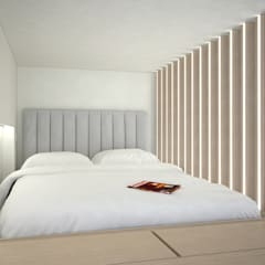 Vantage Park | mid-level | Hong Kong:  Bedroom by Nelson W Design