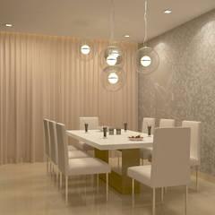 BELLEZEA, NAMBIAR BUILDERS, SARJAPUR, BANGALORE. (www.depanache.in): modern Dining room by De Panache  - Interior Architects