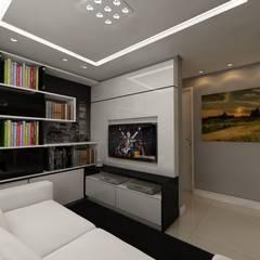 Sala de estar: Salas de estar  por Débora Pagani Arquitetura de Interiores