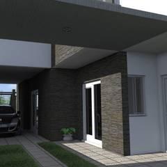 Cochera pasante: Garajes de estilo  por NLA Arquitectura