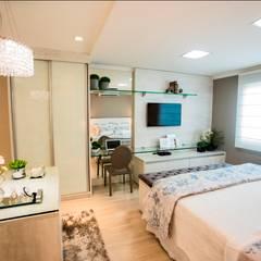 Residência Mocca: Quartos  por Arquitetura Ao Cubo LTDA,Moderno
