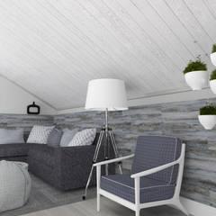 Загородный дом в широченке: Медиа комнаты в . Автор – Студия архитектуры и дизайна Вояджи Дарьи