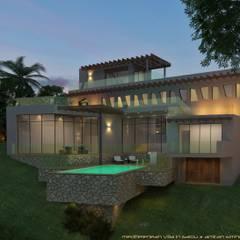 Villa-Salou:  Huizen door A. Simhy - Interieurarchitect BNI