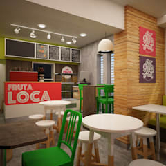 FRUTA LOCA - JUGUERIA CAFE de Kuro Design Studio Tropical