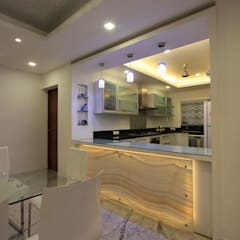 Ethnic Inspiration House:  Kitchen by Ansari Architects