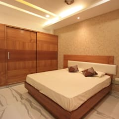 Ethnic Inspiration House:  Bedroom by Ansari Architects,Modern