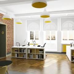 Wnętrze biura: styl , w kategorii Przestrzenie biurowe i magazynowe zaprojektowany przez 2H+ Architekci
