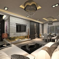 Residential : eclectic Living room by MAPLE studio design