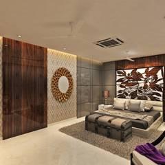 villa: eclectic Bedroom by MAPLE studio design