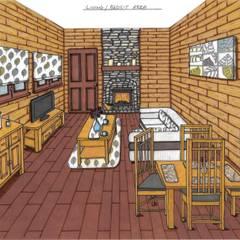 Log Cabin:  Hotels by L M B INTERIORS