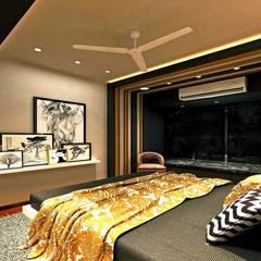 Moroccan STYLE CONTEMPORARY APARTMENT:  Bedroom by MAPLE studio design