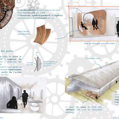 Comptoir du rêve. 6: Garage / Hangar de style  par Sb Design Concept