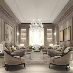 Interior Design & Architecture  by IONS DESIGN Dubai,UAE:  Living room by IONS DESIGN